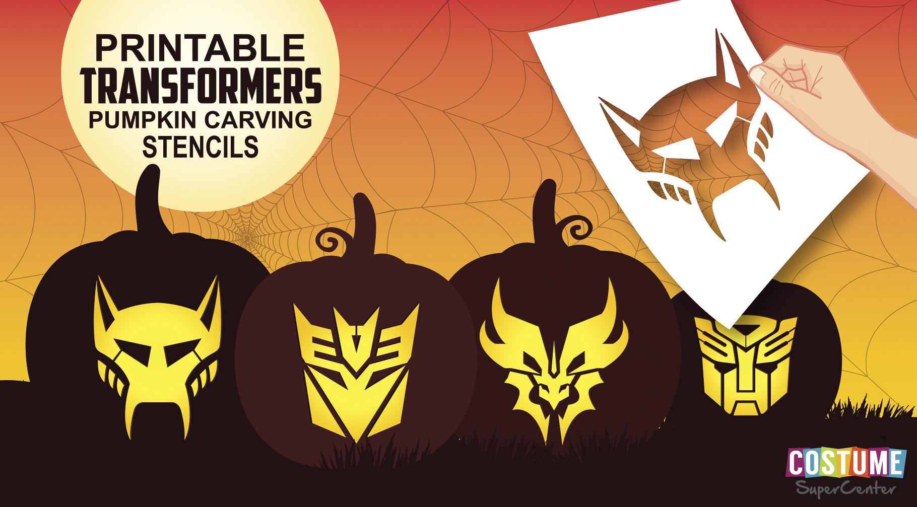 Free Transformer Pumpkin Carving Stencils   Costume Supercenter Blog - Free Printable Pumpkin Carving Stencils
