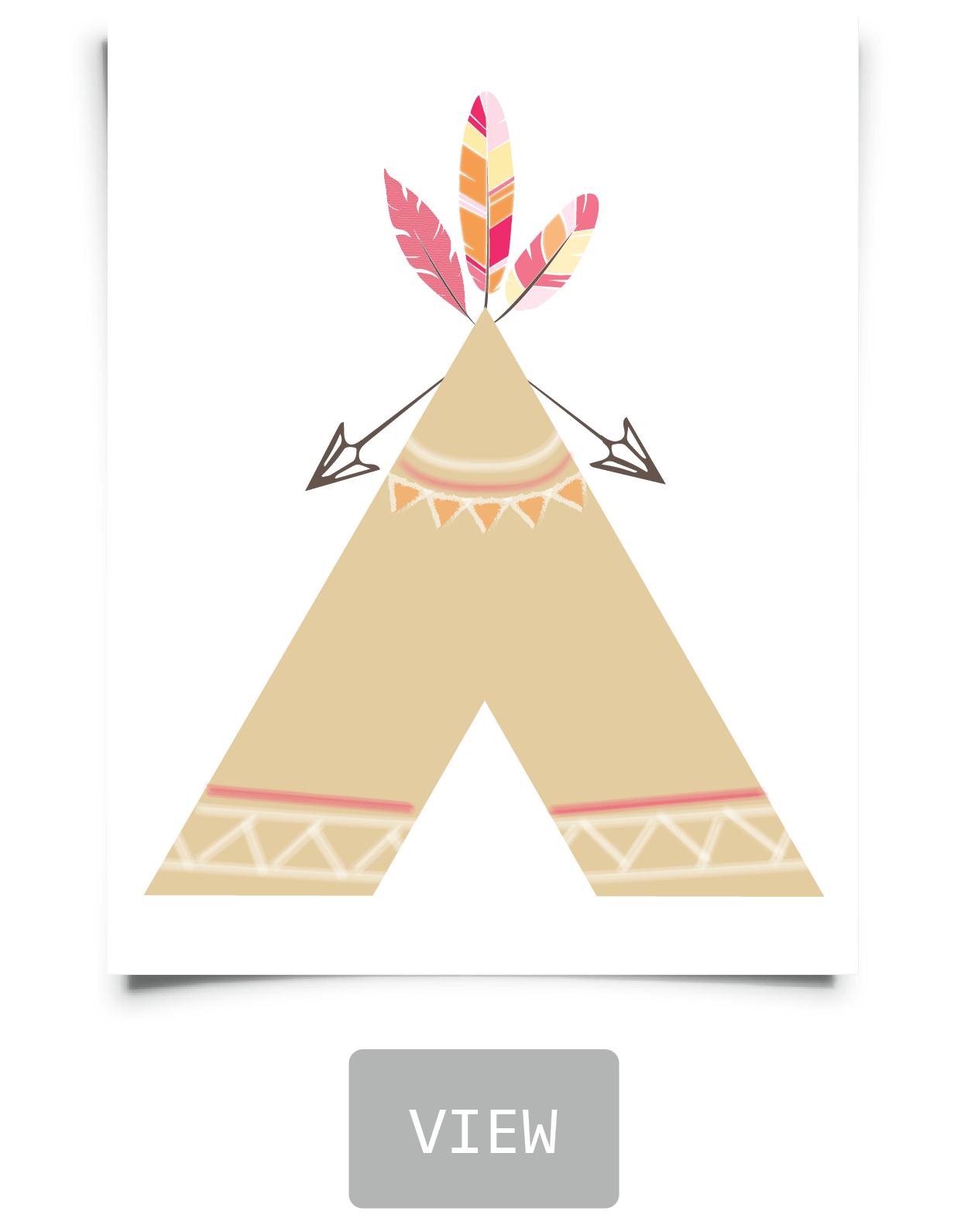 Free Tribal Nursery Printables In 2019 | Bedroom Ideas | Pinterest - Free Printable Teepee