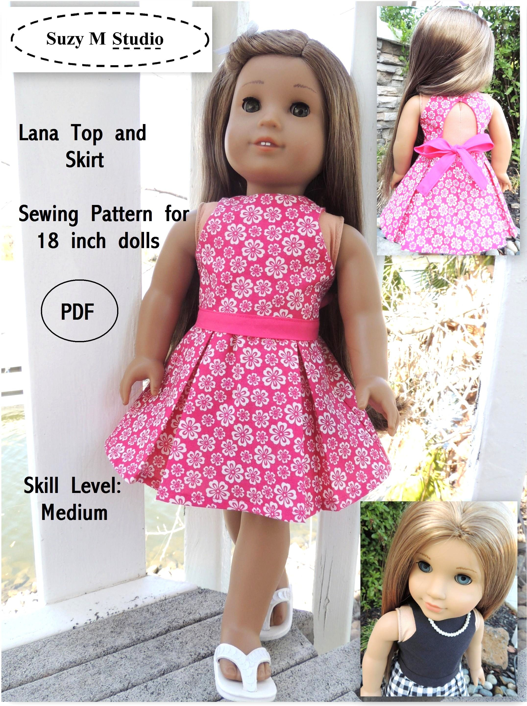 Free Tutorial Pdf | Suzymstudio … | Doll Clothes | Doll … - American Girl Doll Clothes Patterns Free Printable