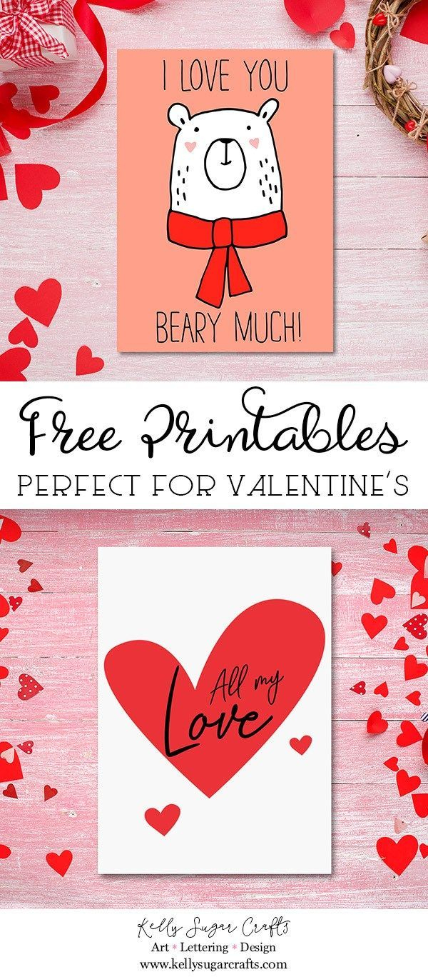 Free Valentine's Day Printable Cards | Free Printable Valentines - Free Printable Heart Designs