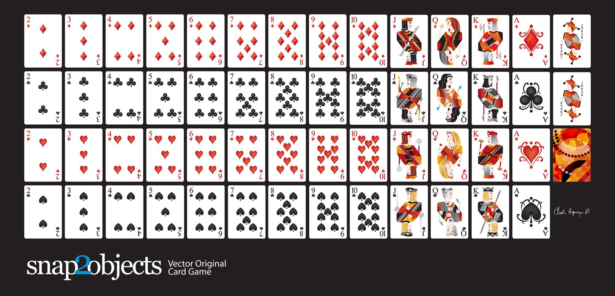 Free-Vector-Card-Deck | Silhouette Cameo | Pinterest | Printable - Free Printable Deck Of Cards