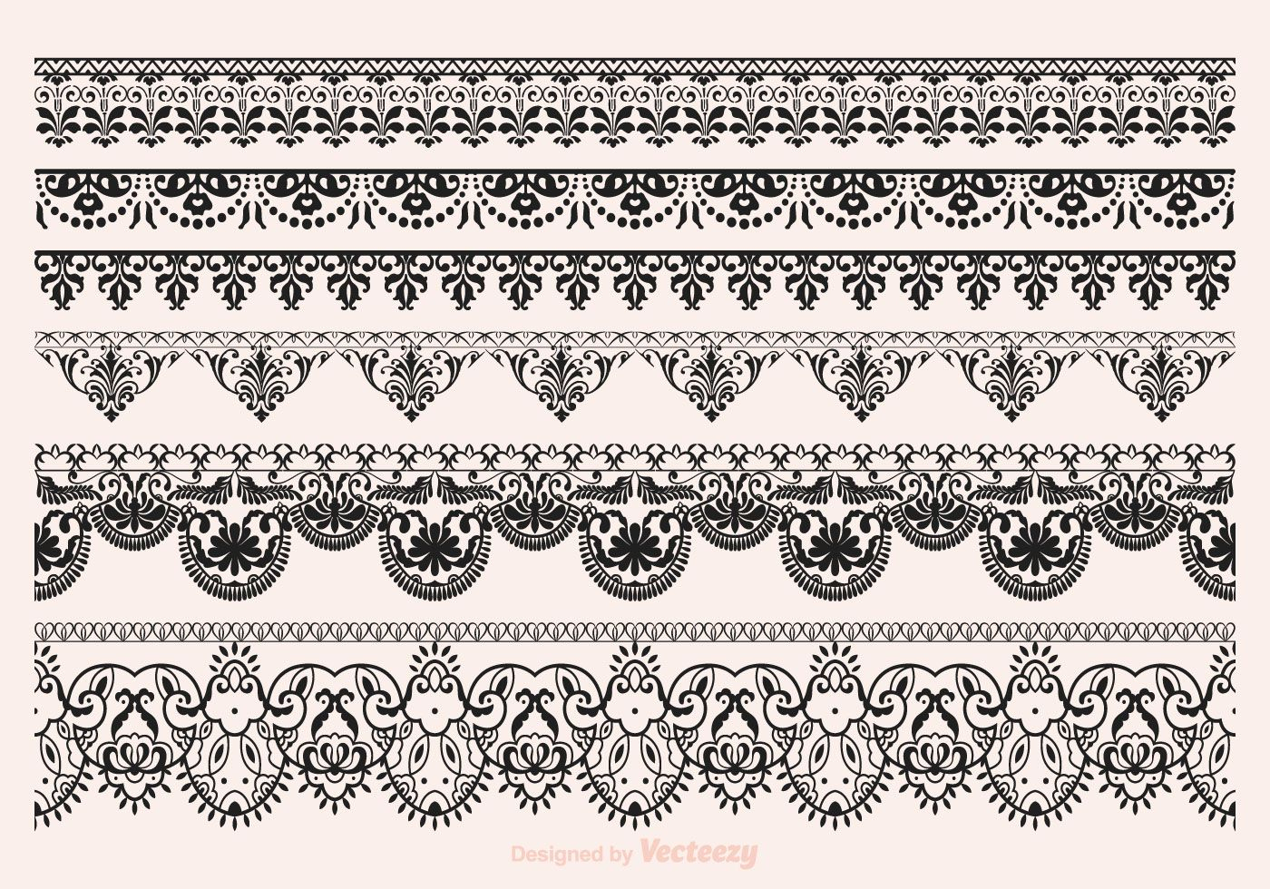 Free Vector Lace Vector Borders | Paint-Plpatt/mud 25 | Pinterest - Free Printable Lace Stencil