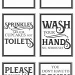 Free Vintage Bathroom Printables | Farmhouse | Bathroom, Diy Home   Free Printable Funny Signs