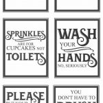 Free Vintage Bathroom Printables | Favorite Diy And Best Crafts   Free Printable Bathroom Quotes