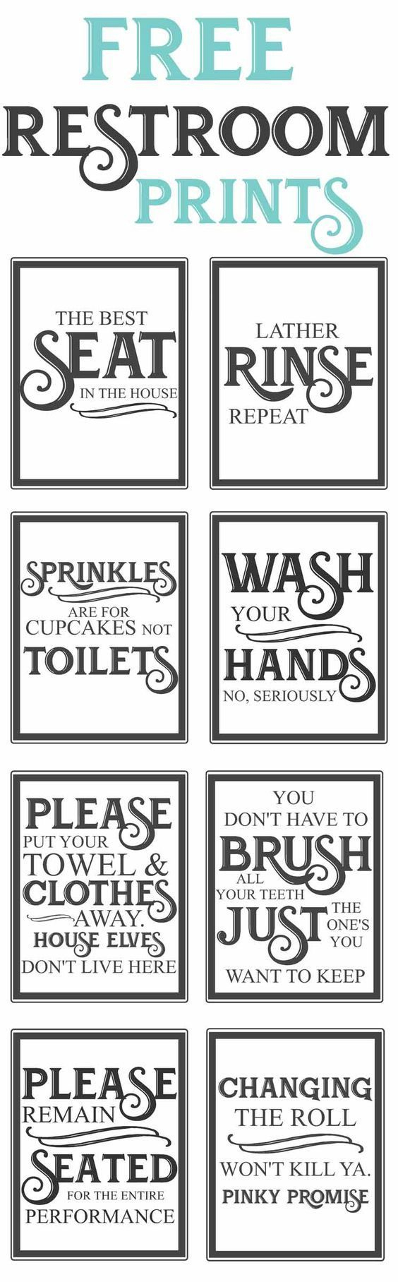 Free Vintage Bathroom Printables | Favorite Diy And Best Crafts - Free Printable Bathroom Quotes