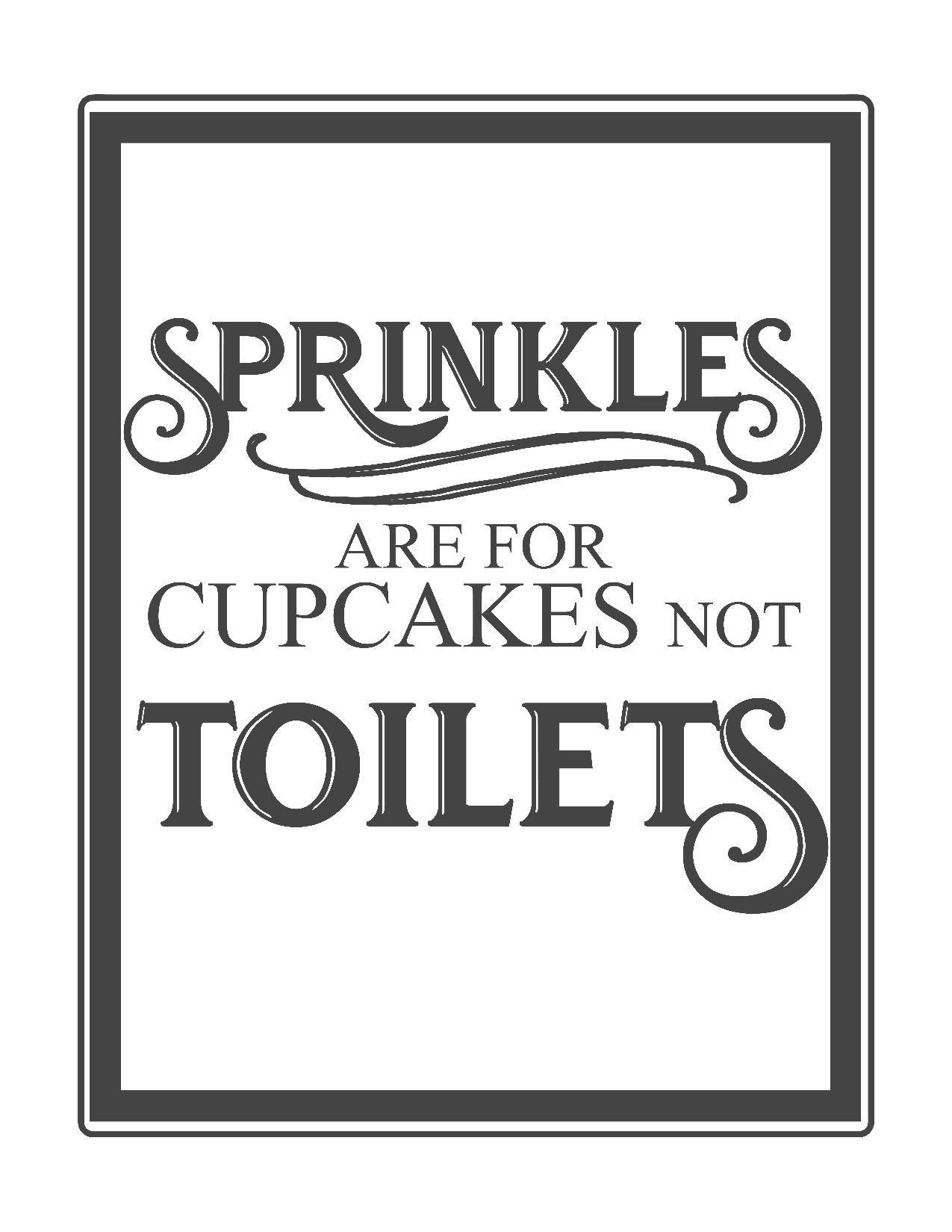 Free Vintage Bathroom Printables | Printables ** | Pinterest - Free Printable Flush The Toilet Signs