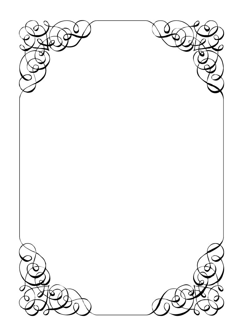 Free Vintage Clip Art Images: Calligraphic Frames And Borders - Free Printable Wedding Clipart Borders