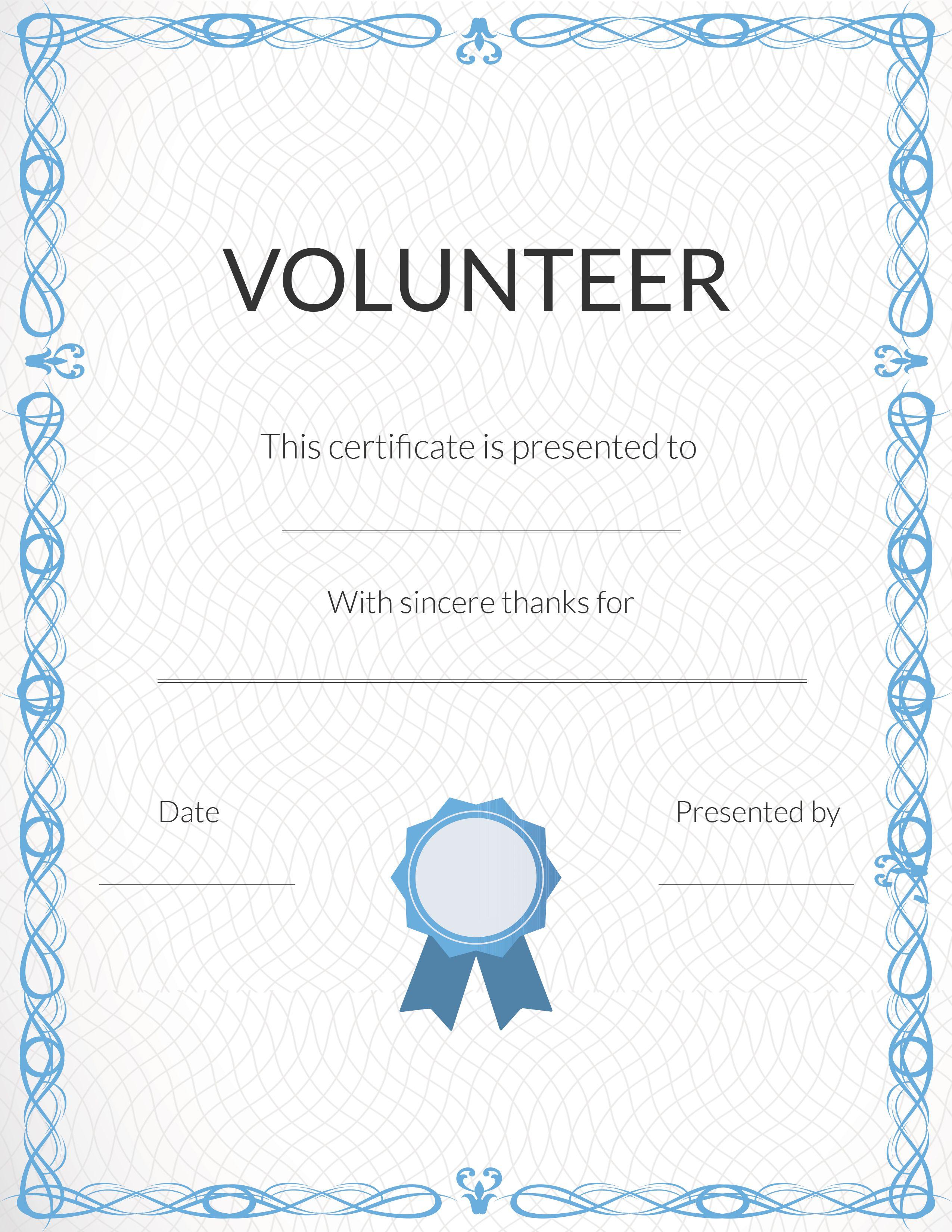 Free Volunteer Appreciation Certificates — Signup - Free Printable Volunteer Certificates Of Appreciation