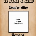 Free Wanted Poster Maker | Make A Free Printable Wanted Poster Online   Wanted Poster Printable Free