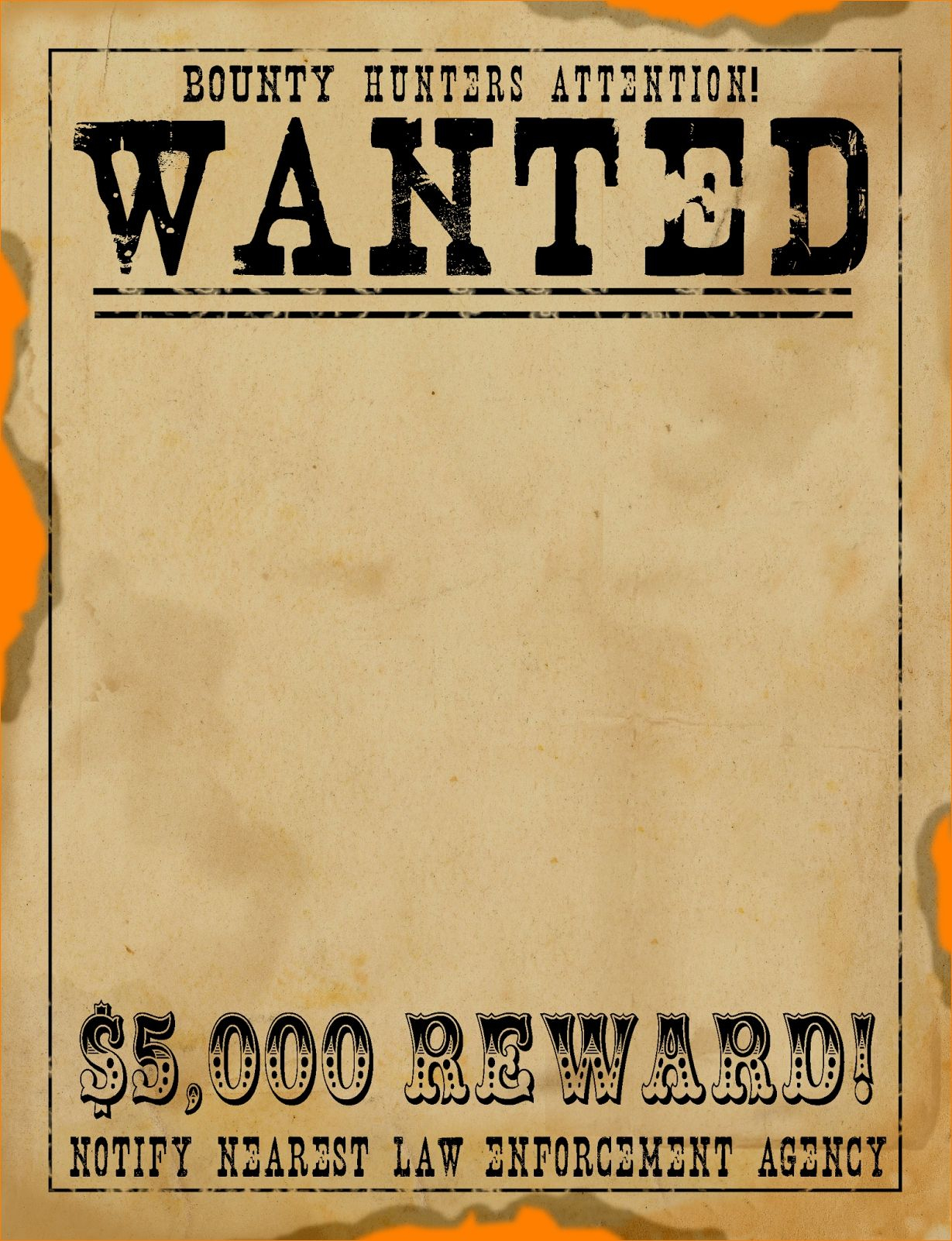 Free Wanted Poster Template Download Clean Free Printable Wanted - Wanted Poster Printable Free