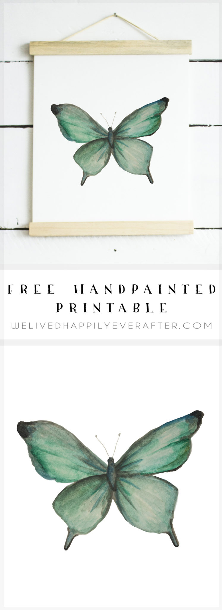 Free Watercolor Butterfly Printable   We Lived Happily Ever Afterwe - Free Printable Butterfly Pictures