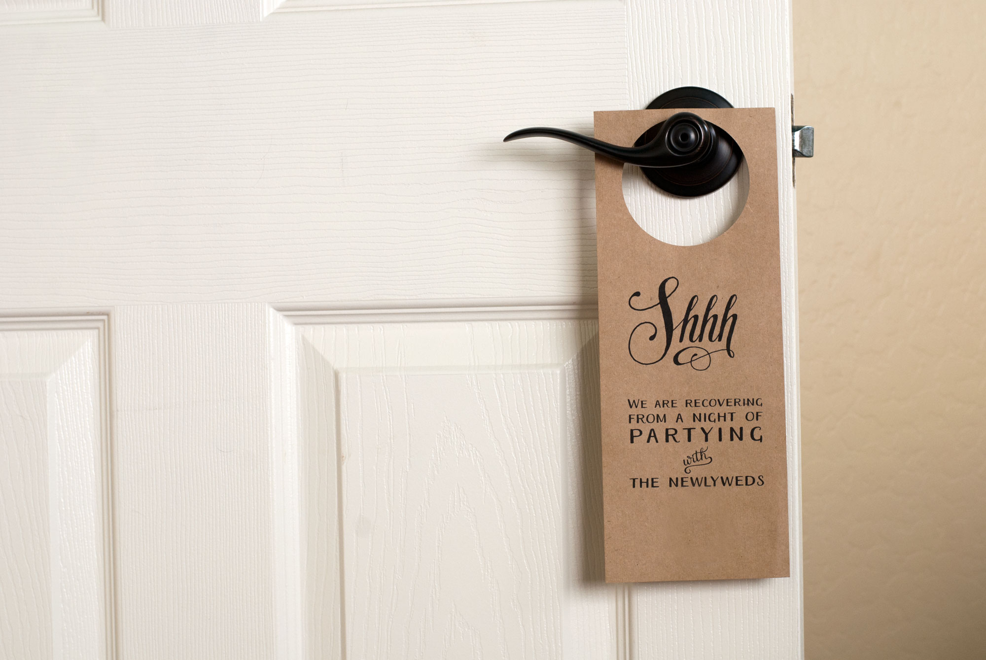 Free Wedding Door Hanger Printable | Handmade And Homegrown - Free Printable Door Knob Hanger Template