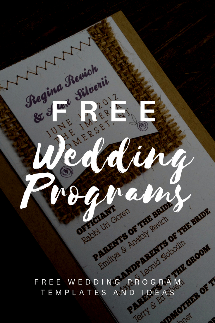 Free Wedding Program Templates | Wedding Program Ideas - Free Printable Fan Wedding Programs