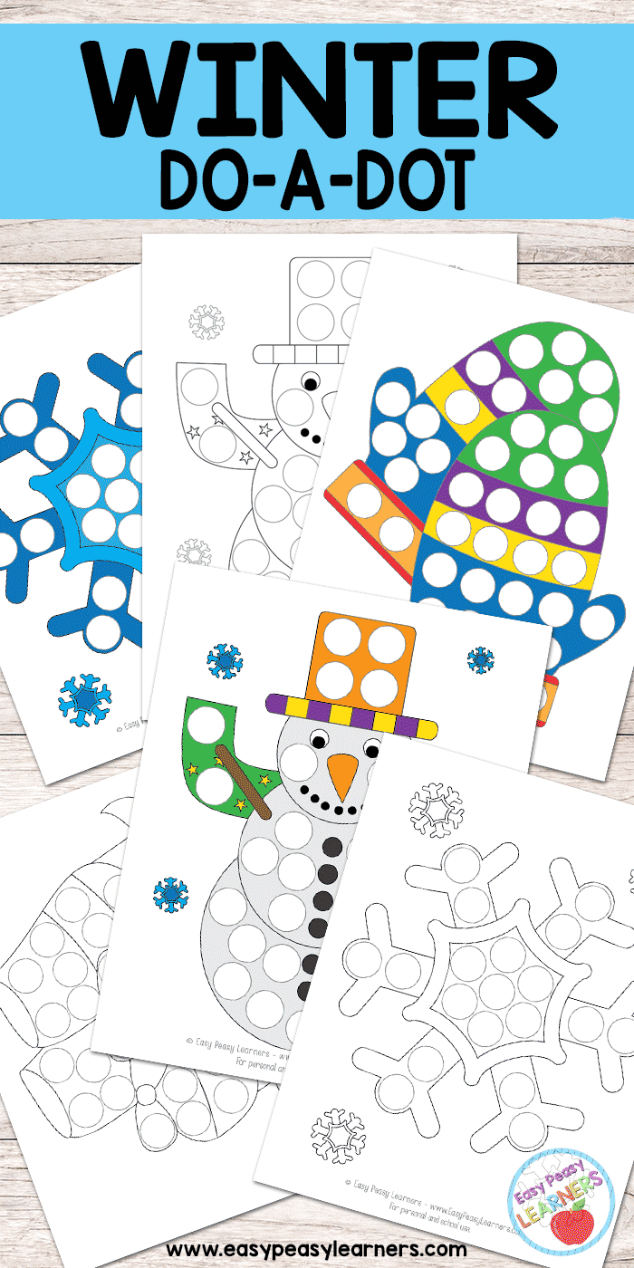 Free Winter Do A Dot Printables - Easy Peasy Learners - Do A Dot Art Pages Free Printable