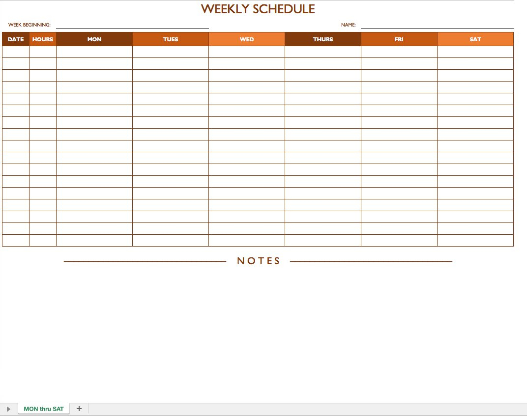 Free Work Schedule Templates For Word And Excel - Free Printable Weekly Work Schedule