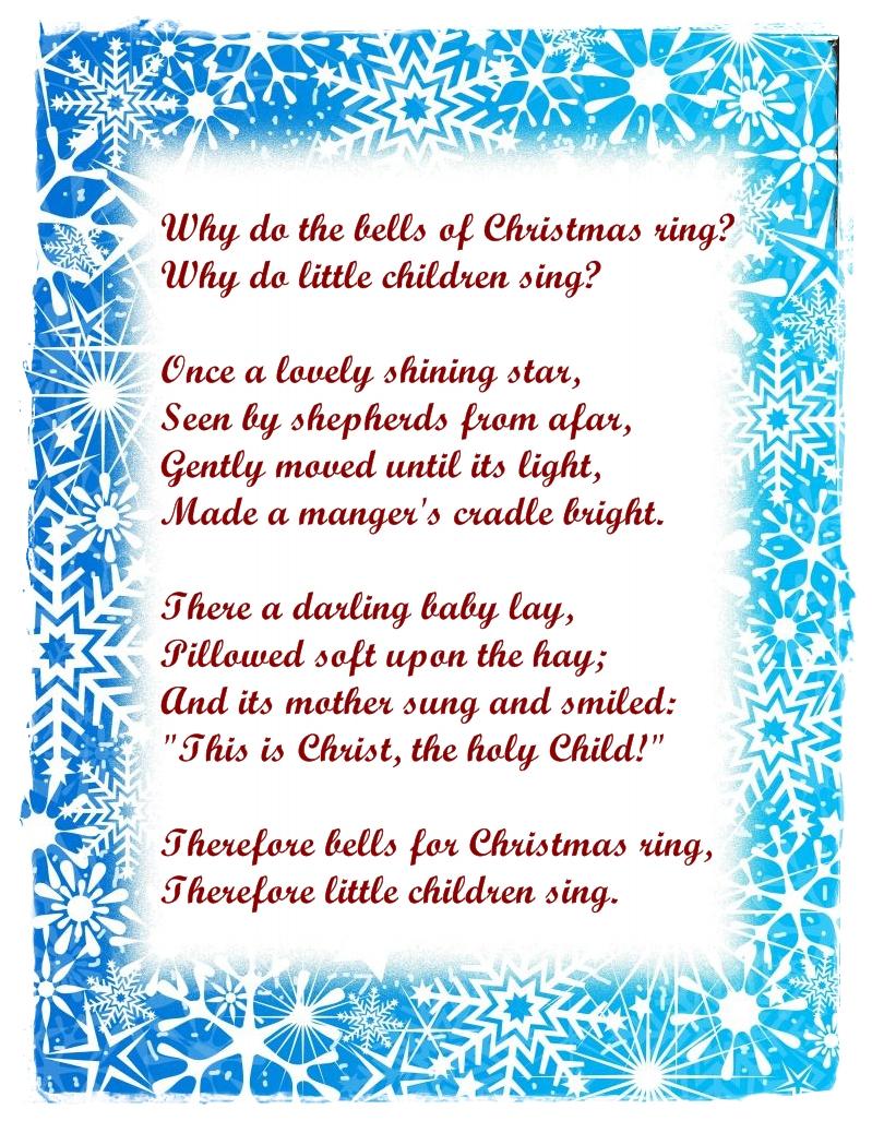 Free Xmas Love Poems | Free Love Quotes - Free Printable Christian Christmas Poems