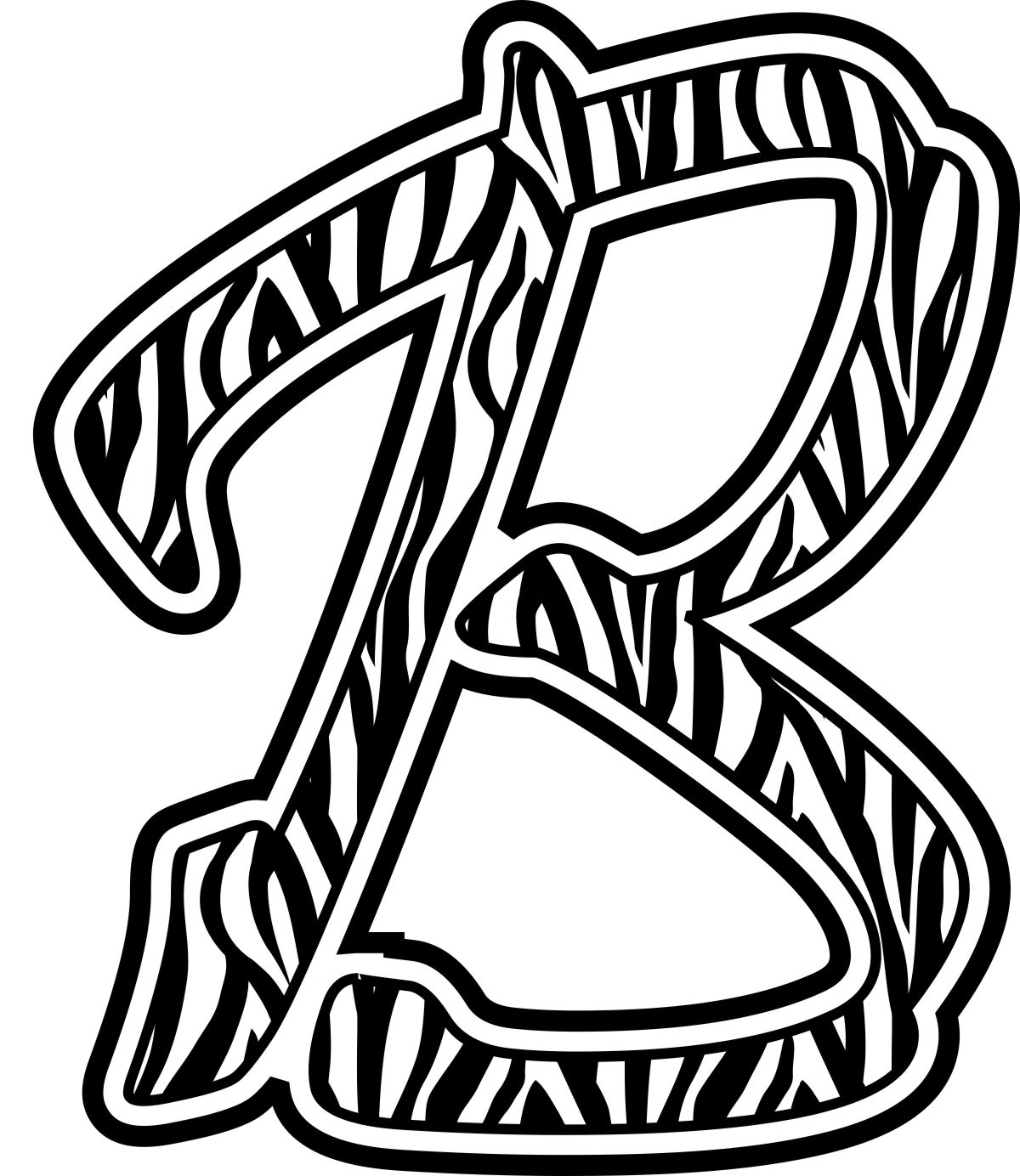 Free Zebra Print Letters Printable, Download Free Clip Art, Free - Free Printable Bubble Letters