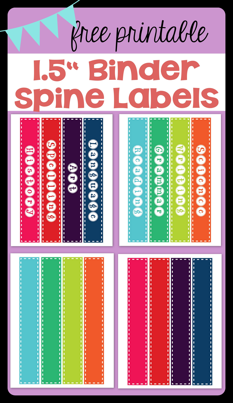 Freebie* Binder Spine Labels - Printable Binder Spine Inserts Free