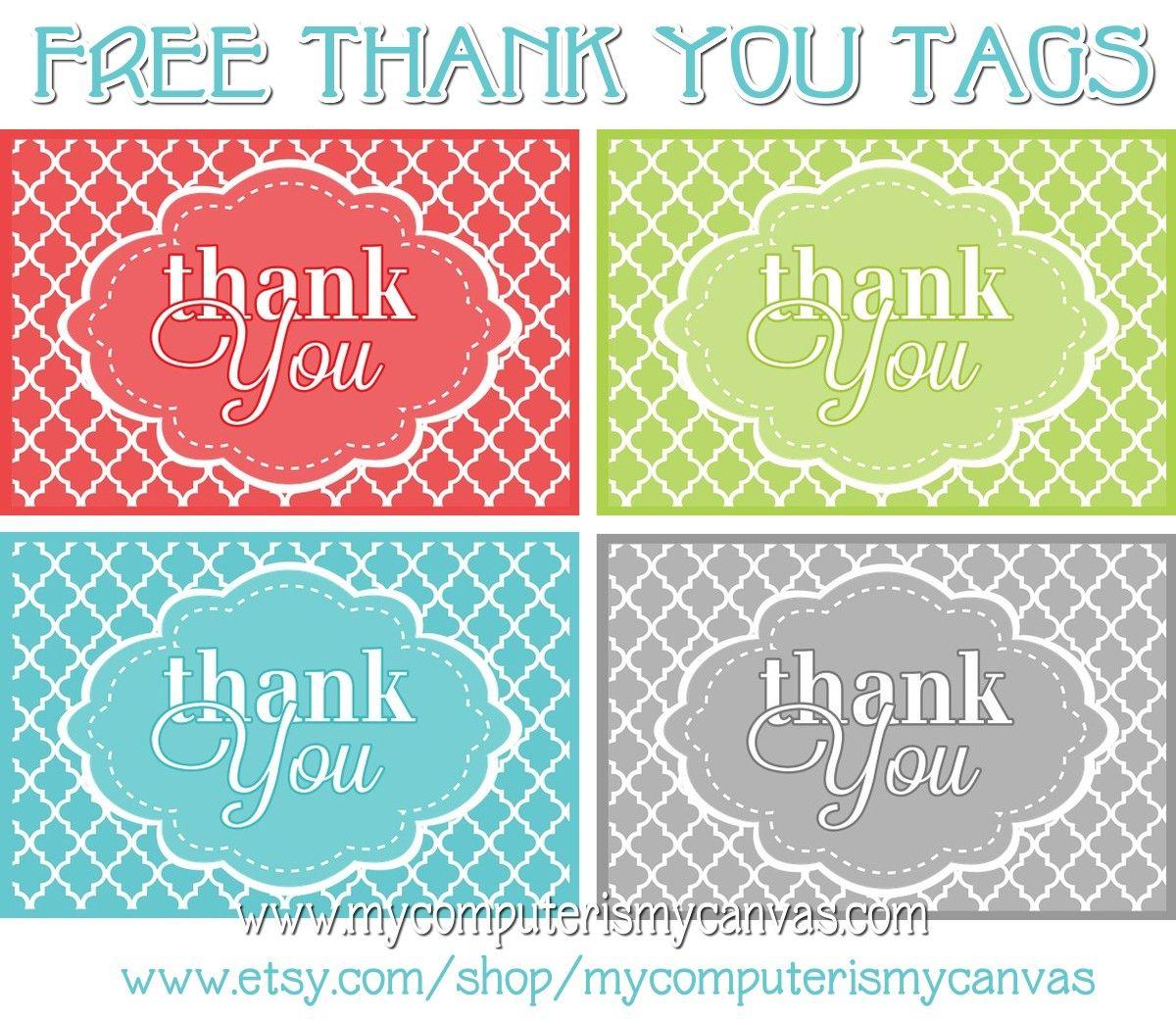 Freebie} Printable Thank You Tags | Printables | Pinterest | Thank - Free Printable Thank You Tags