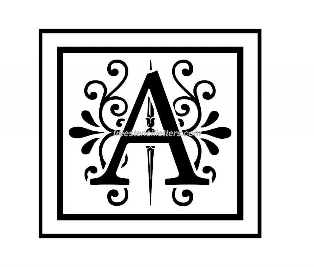 Freee Letter Stencils Exceptional For Painting Crafts Pinterest - Free Printable Alphabet Templates
