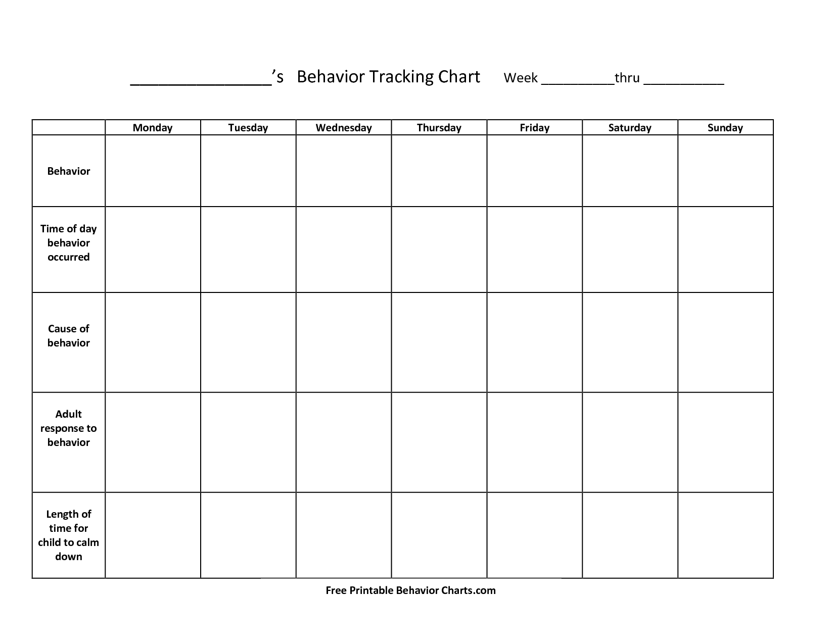 Free+Printable+Behavior+Charts+For+Teachers | Things To Try - Free Printable Incentive Charts For Teachers