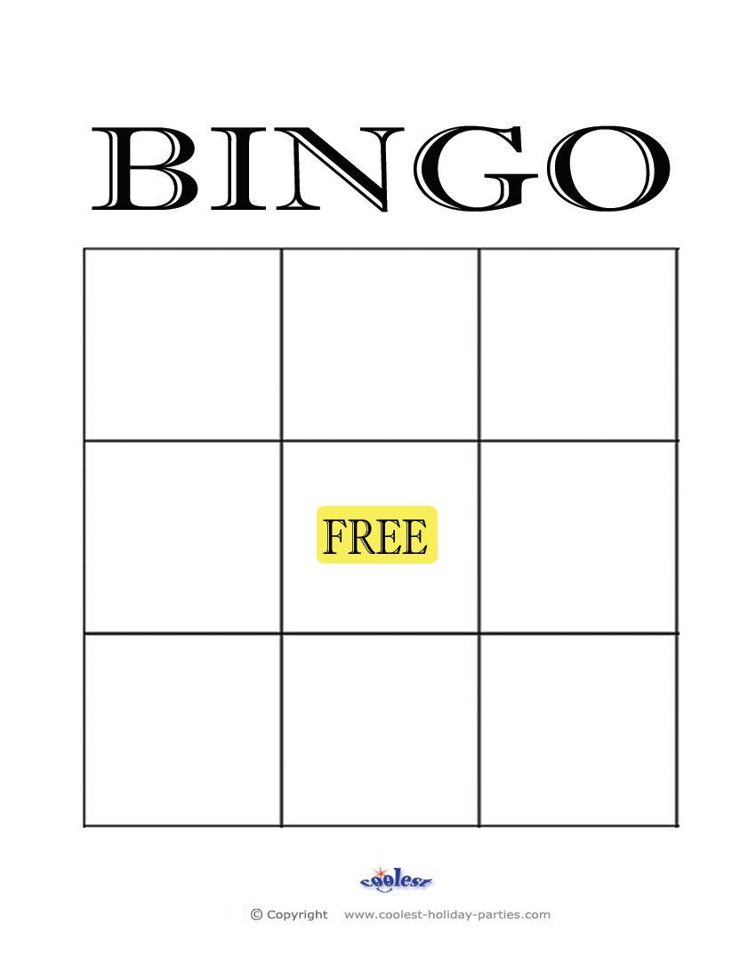 Free+Printable+Blank+Bingo+Cards+Template | Kidsrock - Printable Bingo Template Free