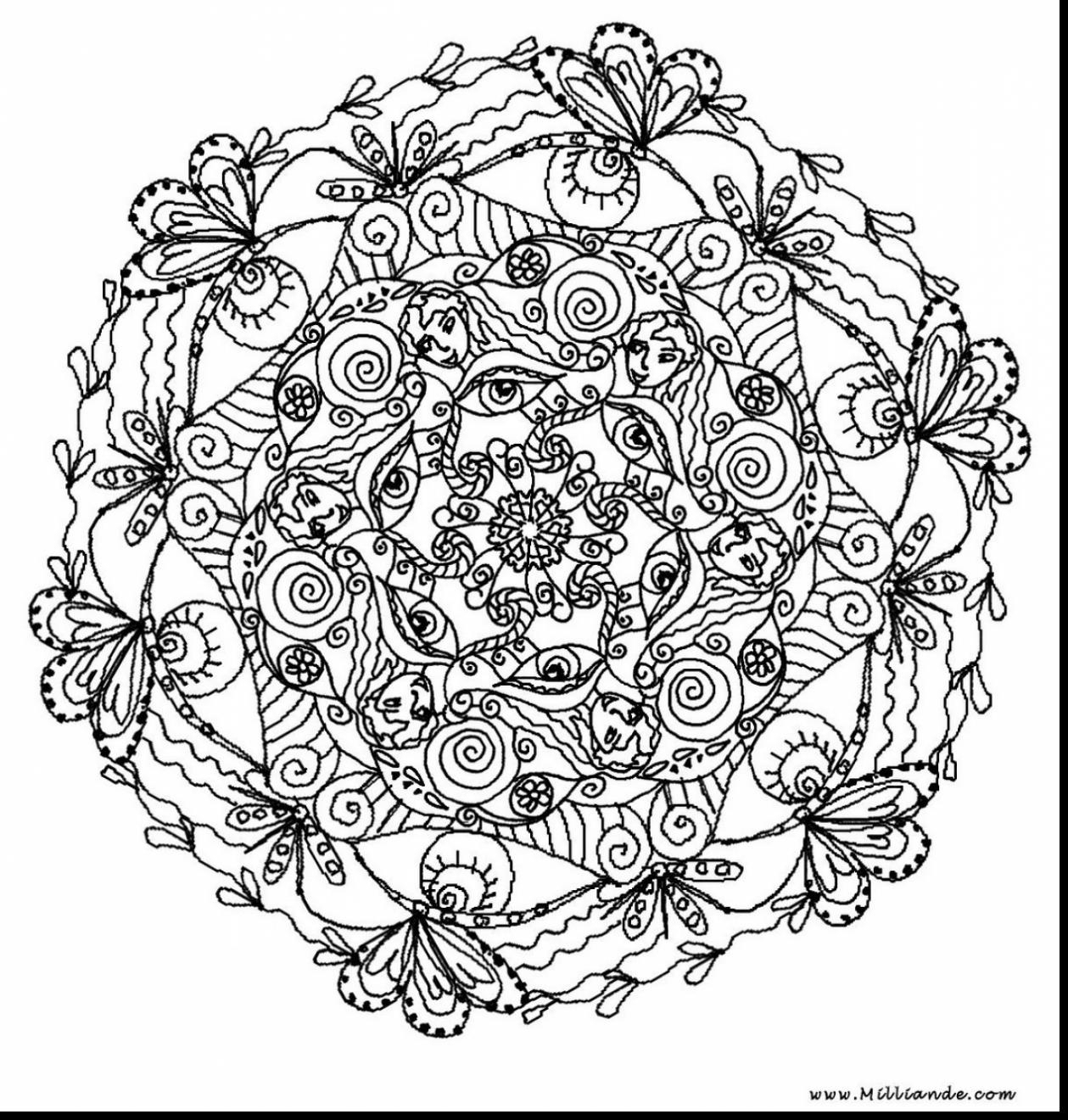 Fresh Magnificent Printable Mandala Coloring Pages Adults With Hard - Free Printable Mandala Coloring Pages For Adults