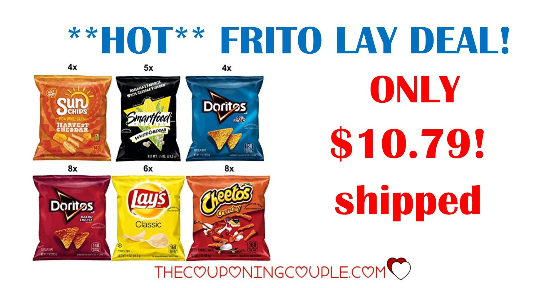 Frito-Lay Variety Pack Singles - Only $0.28 Each Shipped! | Store - Free Printable Frito Lay Coupons