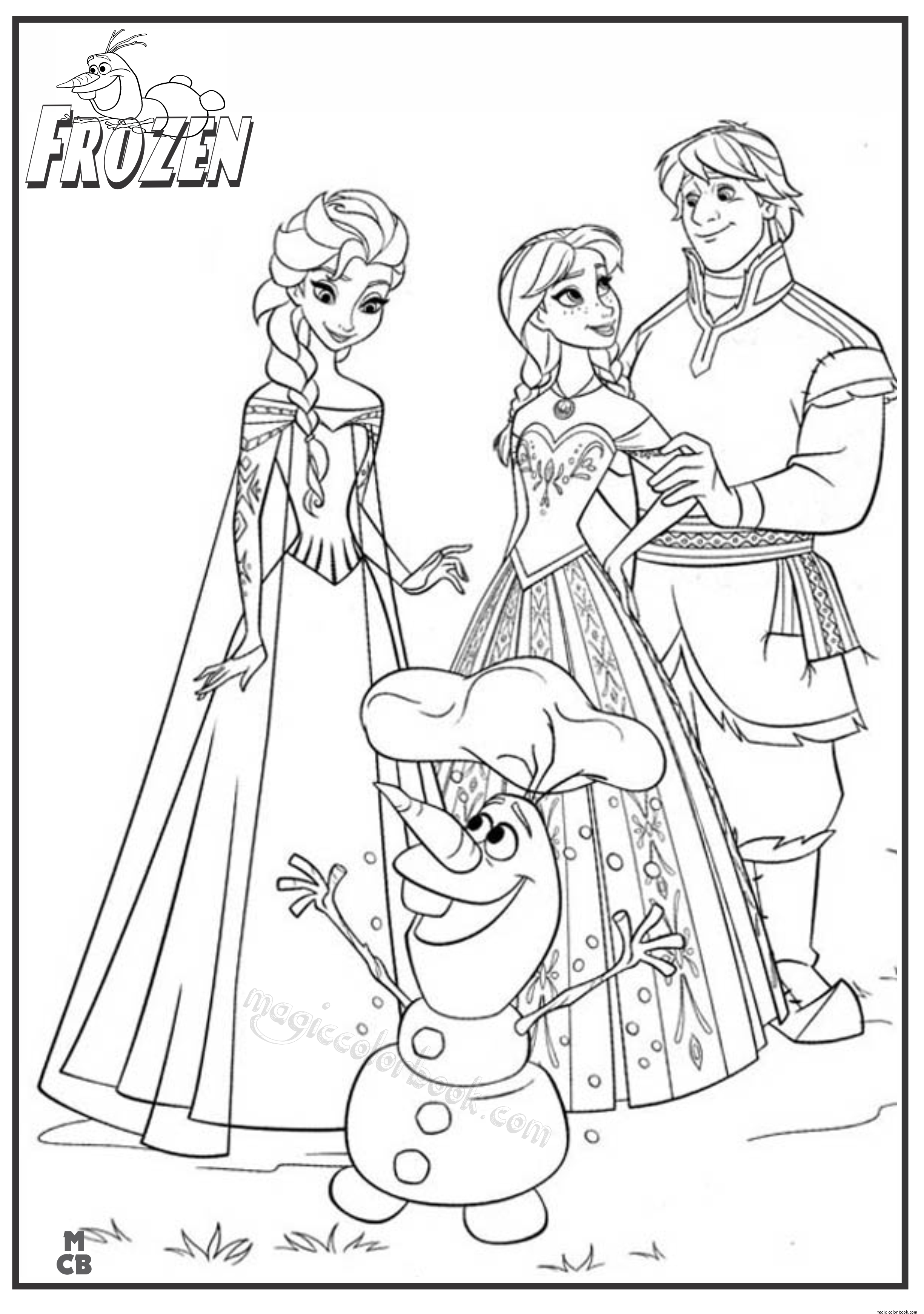 Frozen Coloring Page - Coloring Home - Free Printable Frozen Coloring Pages