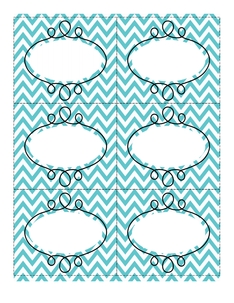 Fun Chevron-Patterned Labels | Consolidation Ideas | Printable - Free Printable Chevron Labels