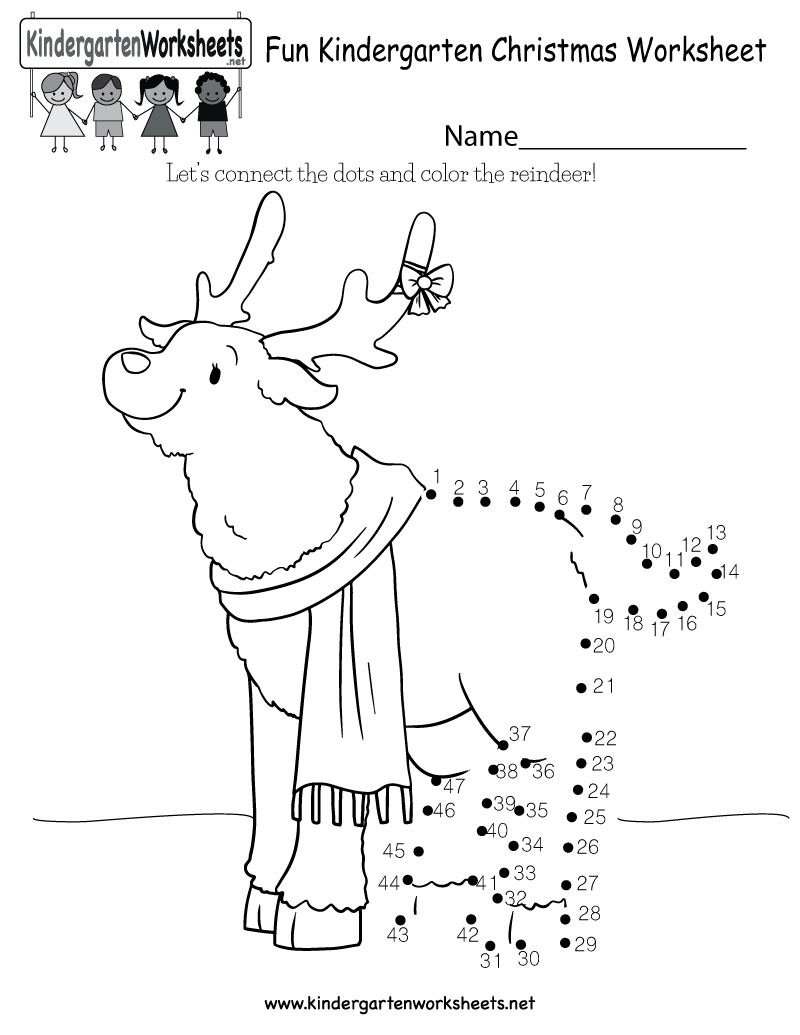 Fun Christmas Worksheet - Free Kindergarten Holiday Worksheet For Kids - Free Printable Christmas Worksheets For Kids