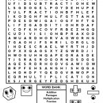 Fun Math Worksheets For 3Rd Grade Fourth Grade Word Search Lovely   Free Printable Fun Math Worksheets For 4Th Grade