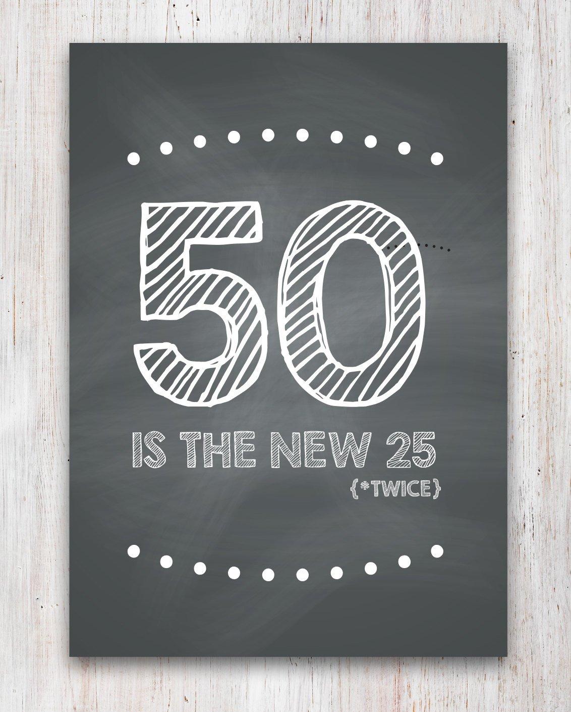 Funny 50Th Birthday Card Printable   Etsy - Free Printable 50Th Birthday Cards Funny