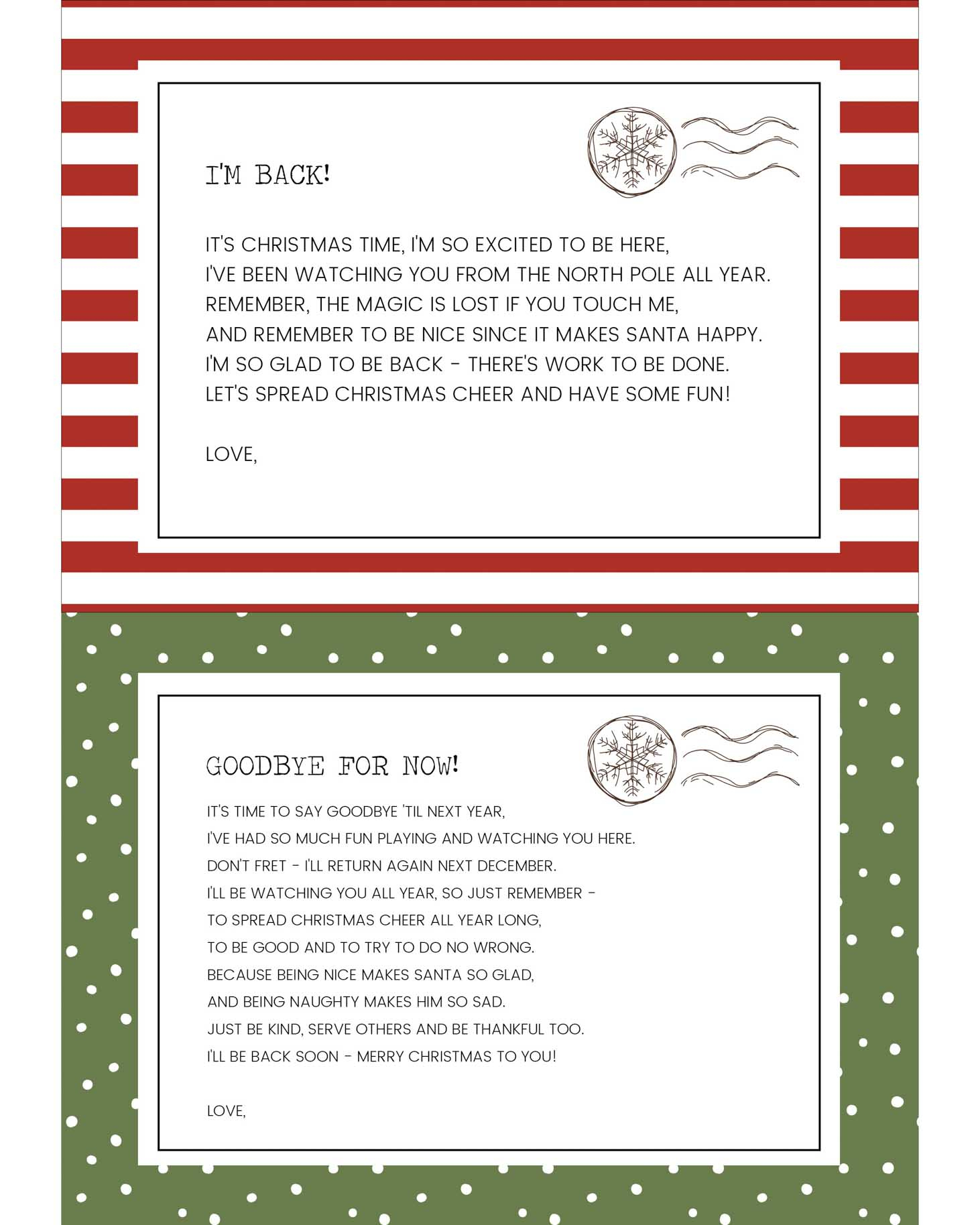 Funny Elf On The Shelf Ideas + Free Printables   Lil' Luna - Elf On The Shelf Goodbye Letter Free Printable