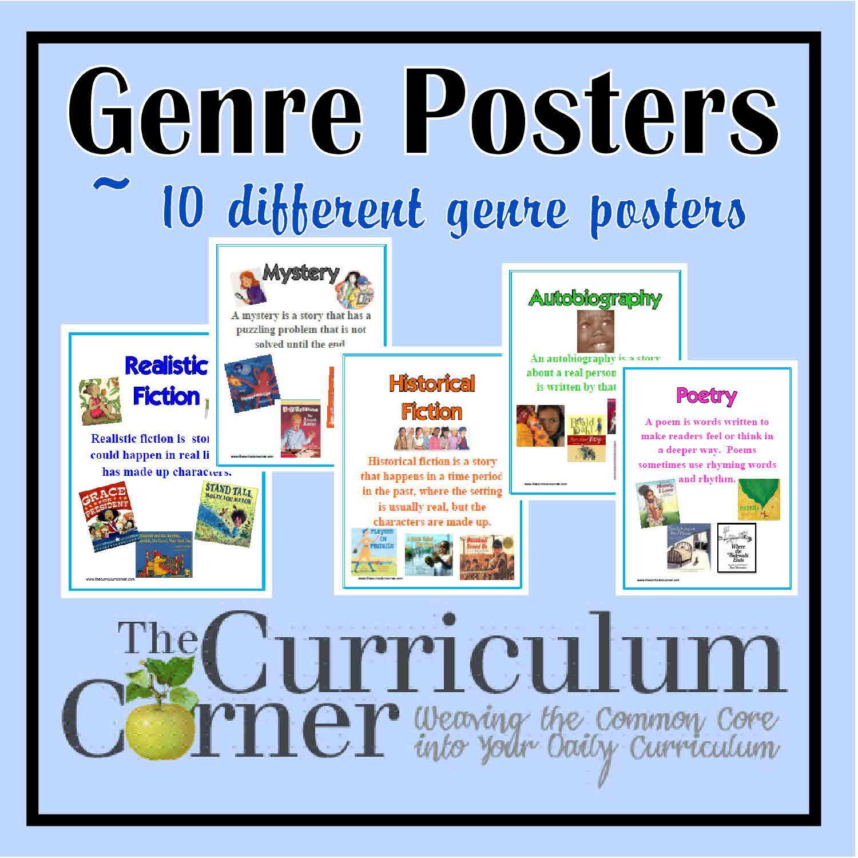 Genre Posters | Reading Workshop | Pinterest | Genre Posters - Genre Posters Free Printable
