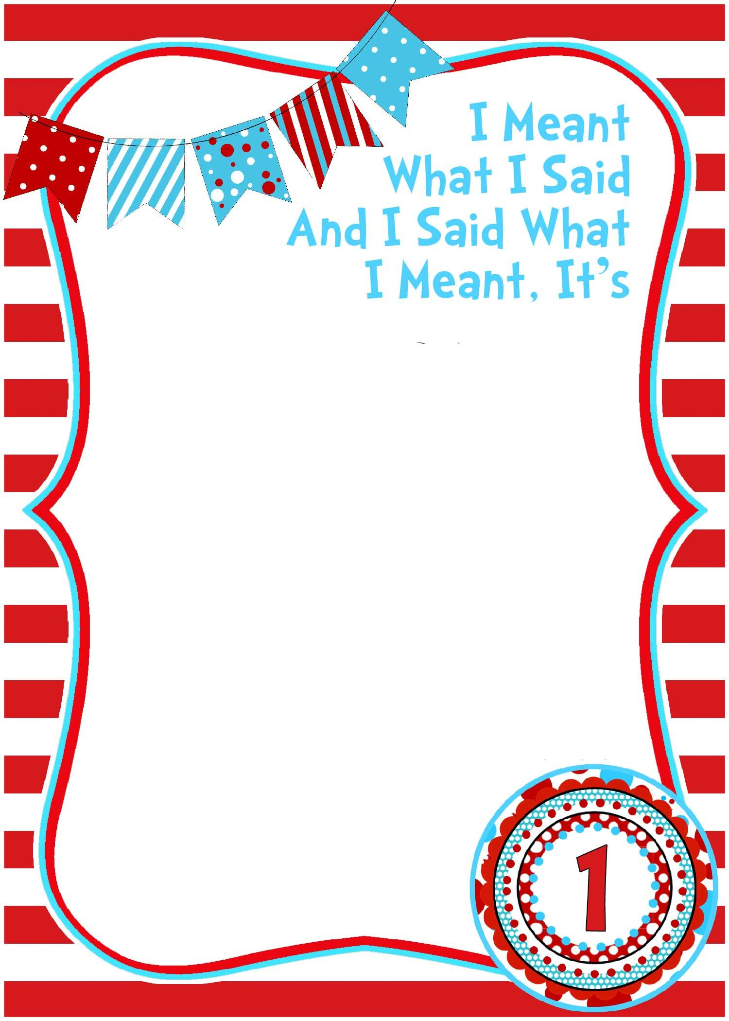 Get Free Printable Dr.seuss - Cat In The Hat Invitation Template - Free Printable Cat In The Hat Pictures