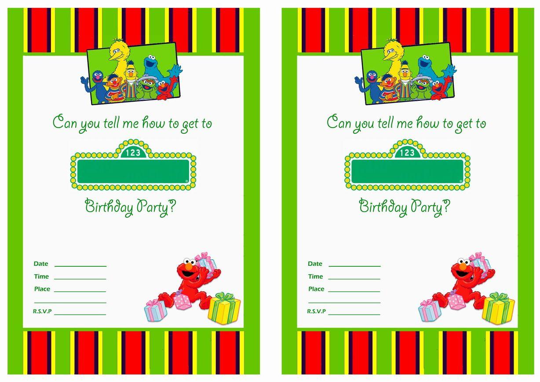 Get Free Printable Sesame Street 1St Birthday Invitations Templates - Free Printable Sesame Street Cupcake Toppers
