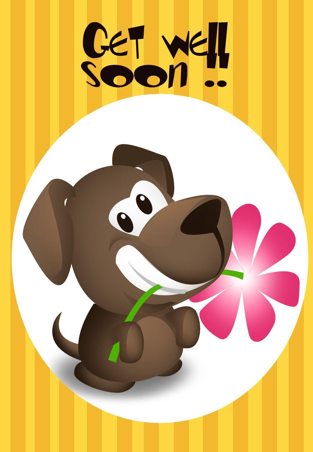 Get Well Soon Free Printable Get Well Soon Puppy Greeting Card - Free Printable Get Well Cards