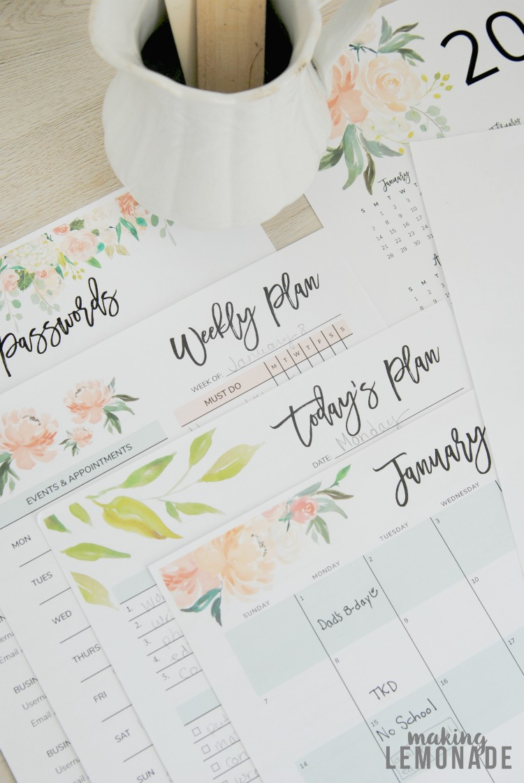 Get Your Free 2018 Printable Planner (With Daily, Weekly & Monthly - Free 2018 Planner Printable