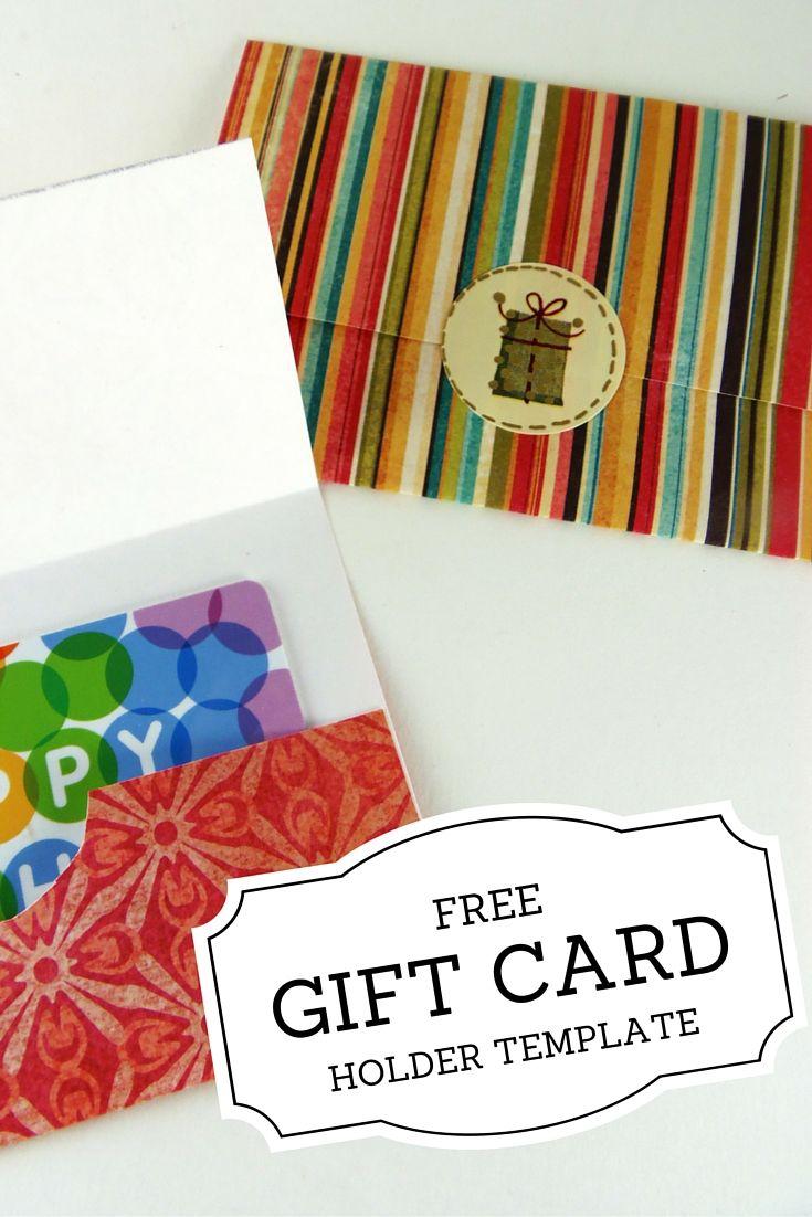 Gift Card Holder Templates | Printables | Pinterest | Printable Gift - Free Printable Christmas Money Holders