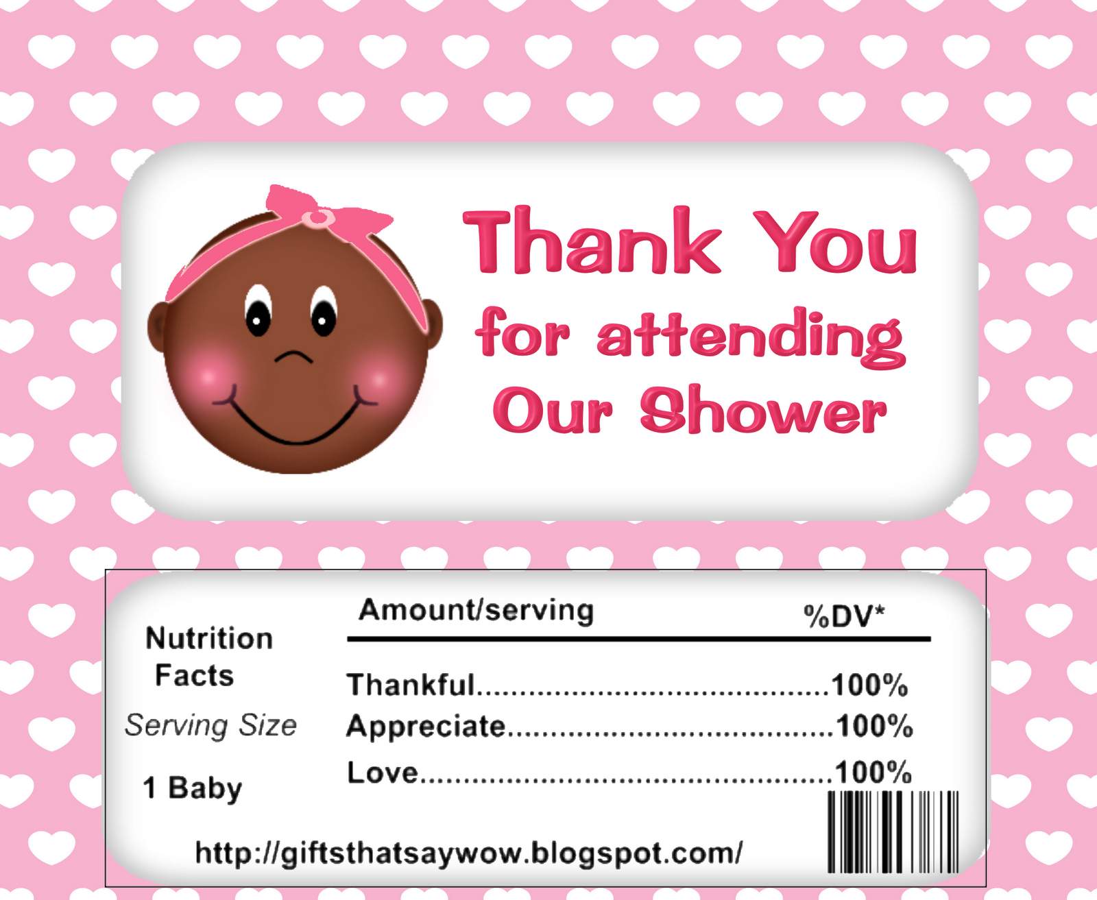 Gifts That Say Wow: Free Printable African American Baby Shower - Candy Bar Baby Shower Game Free Printable