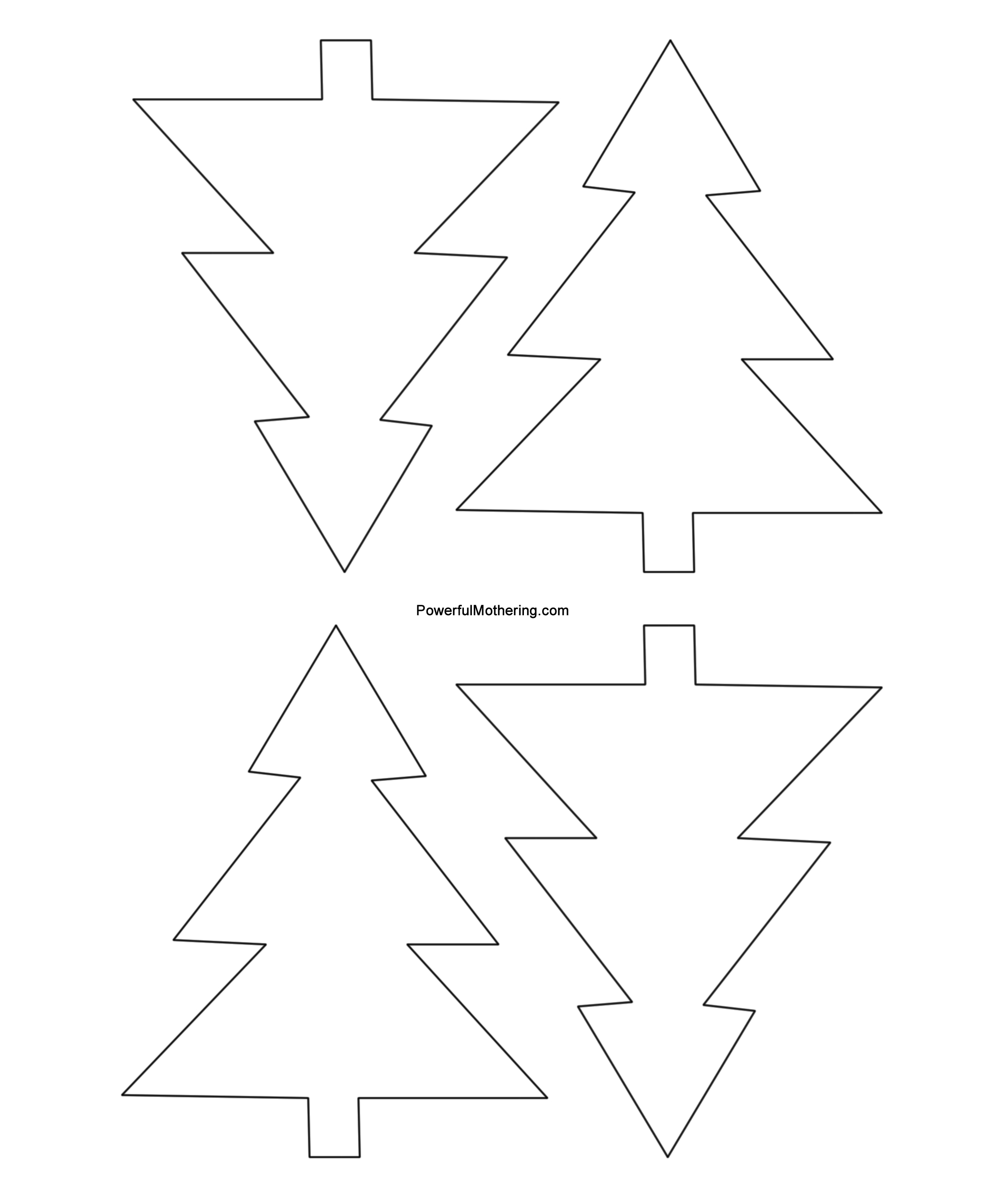 Gingerbread Men, Christmas Tree And Star Printables - Free Printable Christmas Tree Images