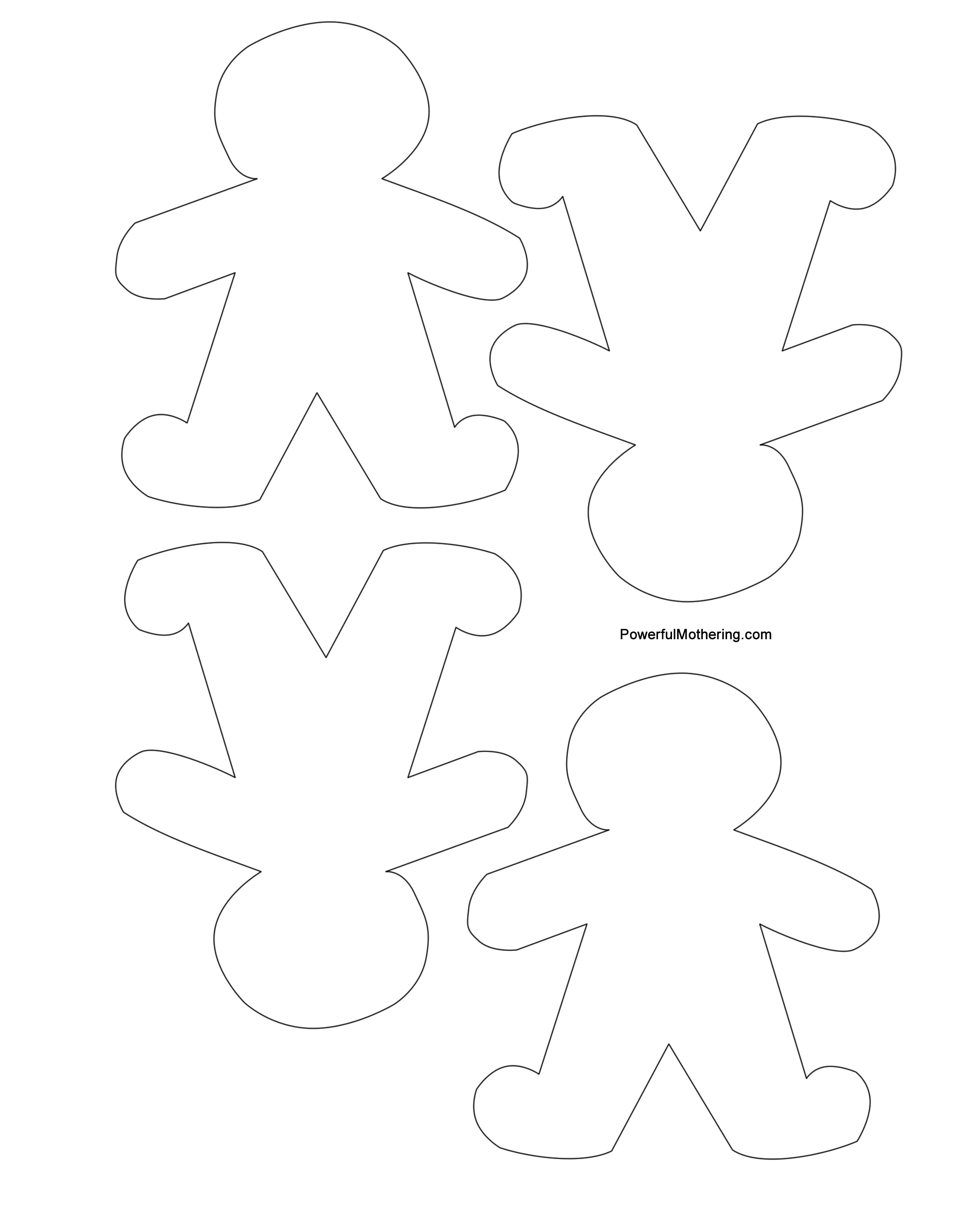 Gingerbread Men, Christmas Tree And Star Printables - Gingerbread Template Free Printable