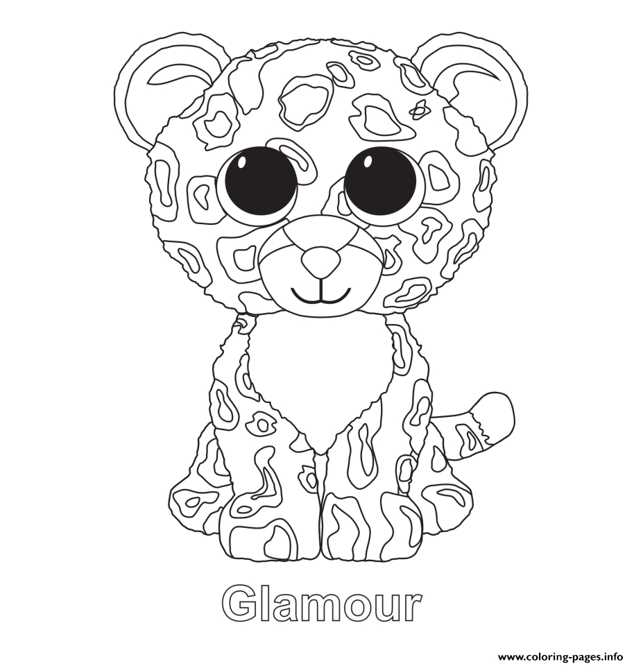 Glamour Beanie Boo Coloring Pages Printable - Free Printable Beanie Boo Coloring Pages