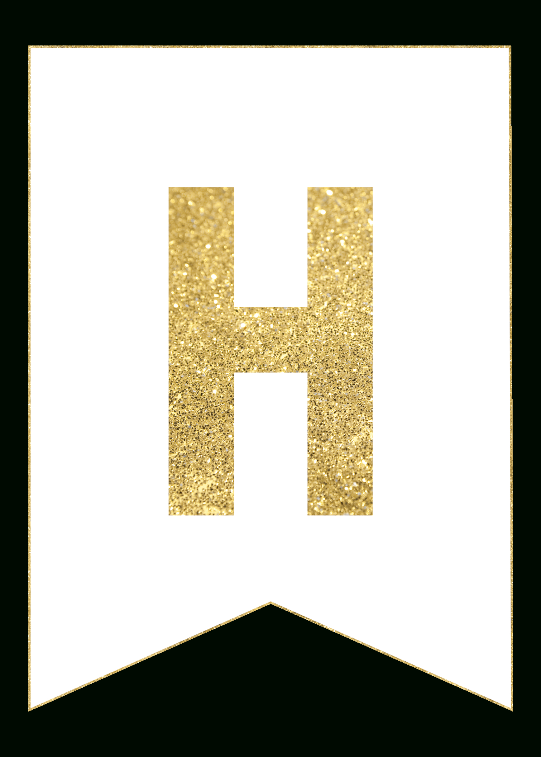Gold Free Printable Banner Letters | Printables | Pinterest - Free Happy Birthday Printable Letters