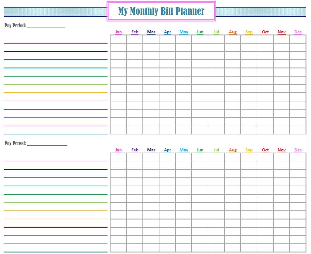 Gold Project Bill Planner | Coo L Stuff | Bill Calendar, Bill - Free Printable Bill Organizer