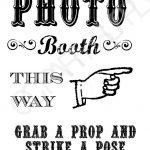 Grab A Prop & Strike A Pose! {Free} Printable Photo Booth Sign – Free Printable 70's Photo Booth Props