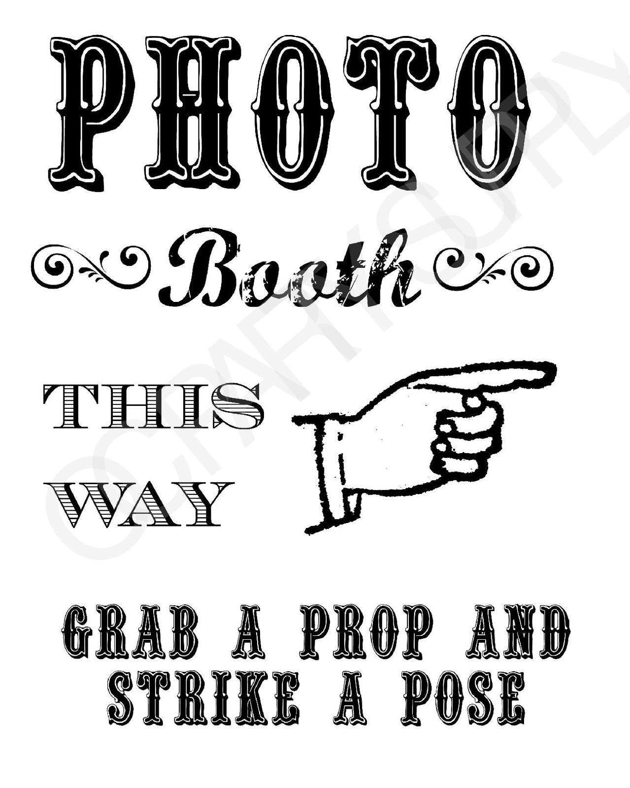 Grab A Prop & Strike A Pose! {Free} Printable Photo Booth Sign - Free Printable Photo Booth Sign