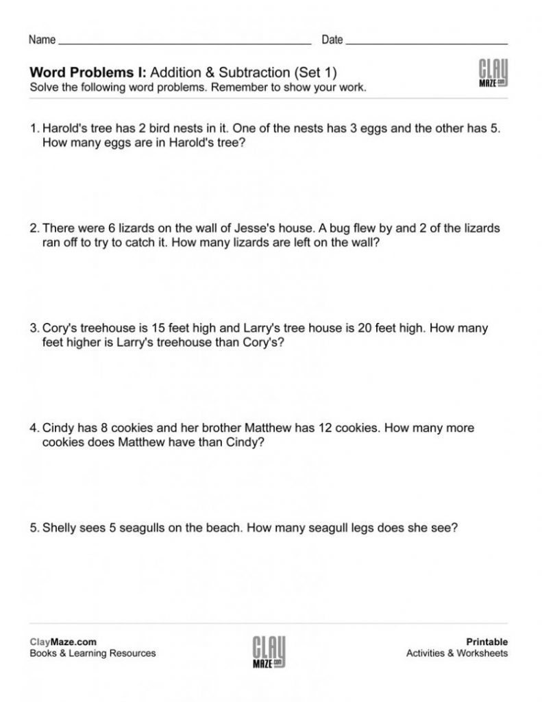 Grade Step Division Word Problems Worksheets Download Them And Try - Free Printable Word Problems 2Nd Grade