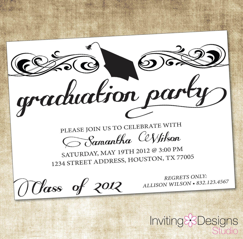 Graduate Invites, Glamorous Grad Party Invites To Design Party - Free Printable Graduation Dinner Invitations
